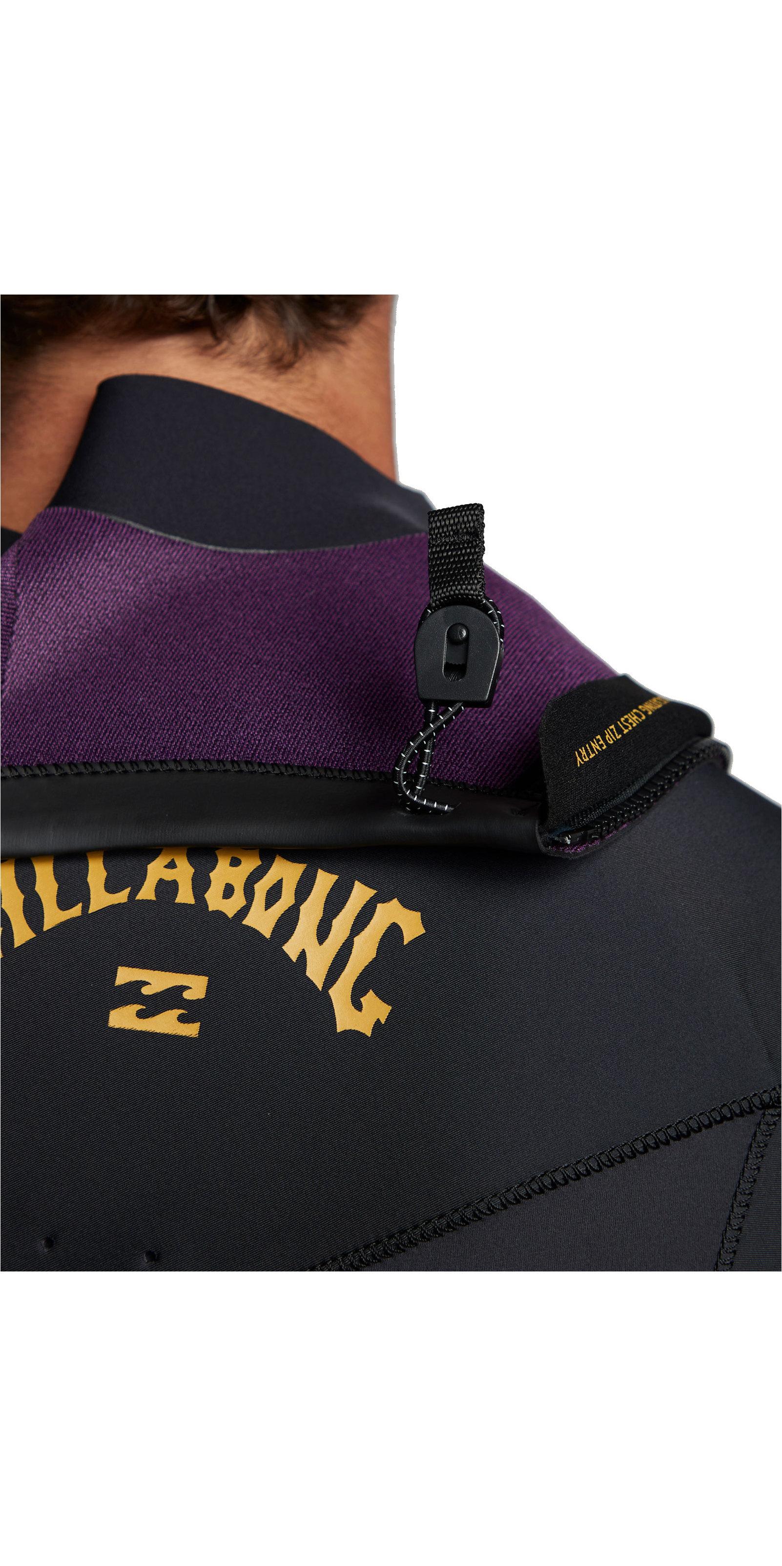 2020 Billabong Heren Absolute 2mm Flatlock Shorty Wetsuit Met Chest Zip S42M70 - Antiek Zwart