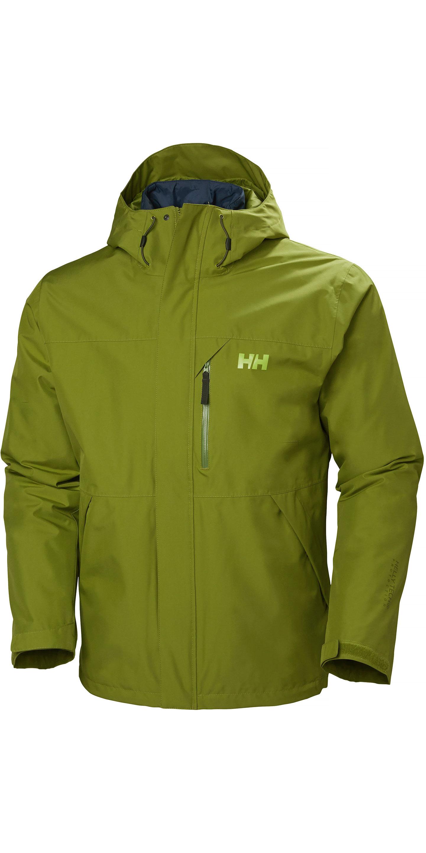2019 Helly Hansen Hansen Helly Hansen Squamish Cis 3 in 1 Jacke 62368 Wood Green