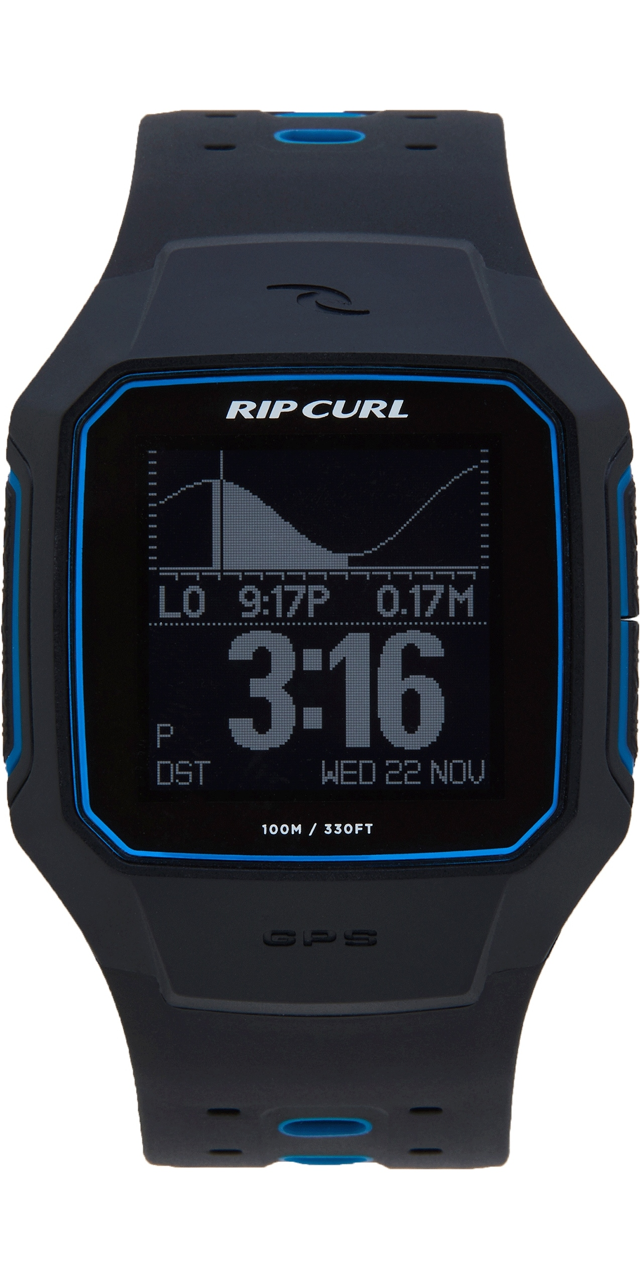 2019 Rip Curl Curl Search GPS Series 2 Smart Surf Watch Blue A1144