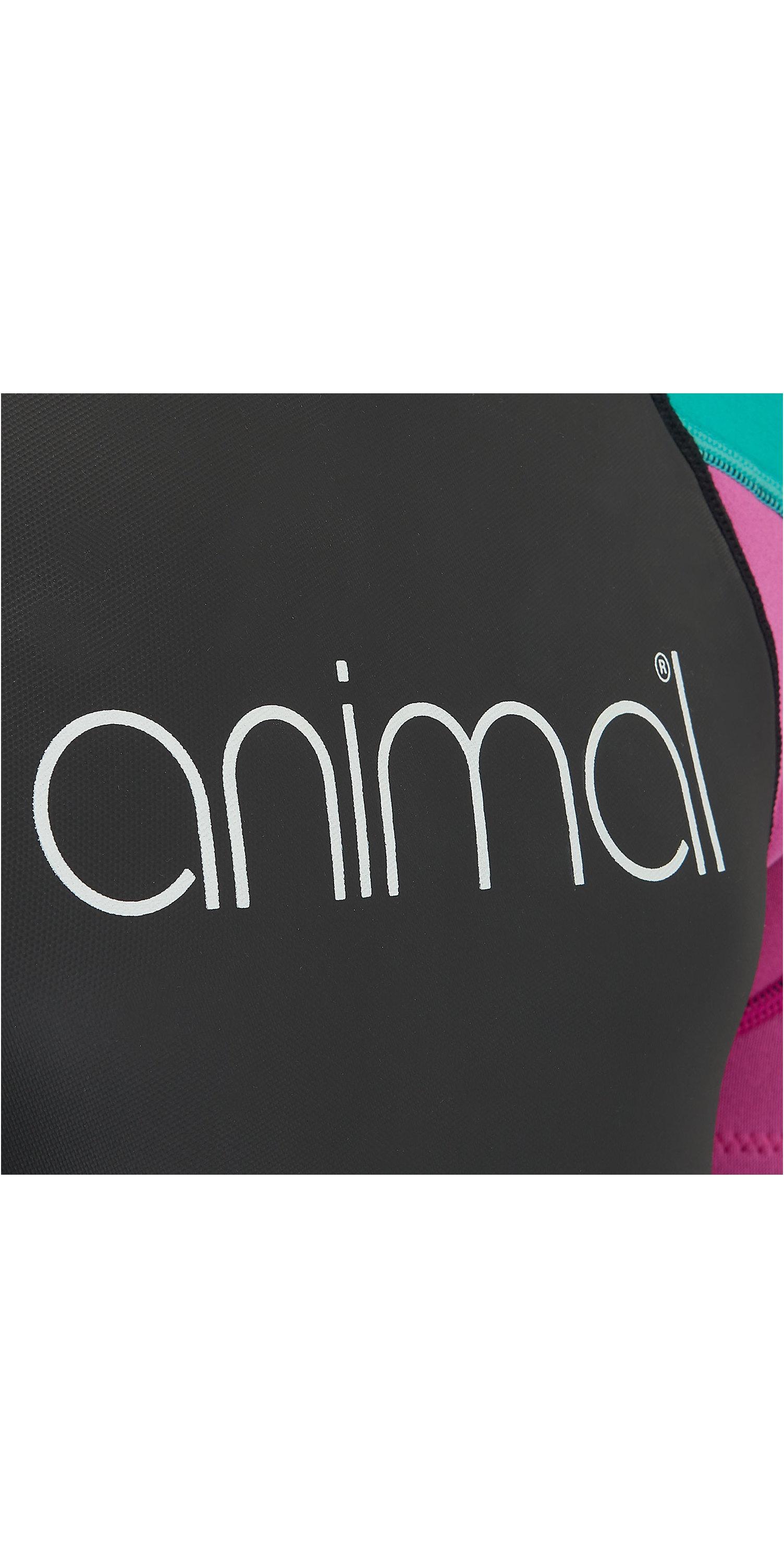 2019 Animal Junior Girl Nova 3/2mm Flatlock Shorty Wetsuit Zwart Aw9sq803