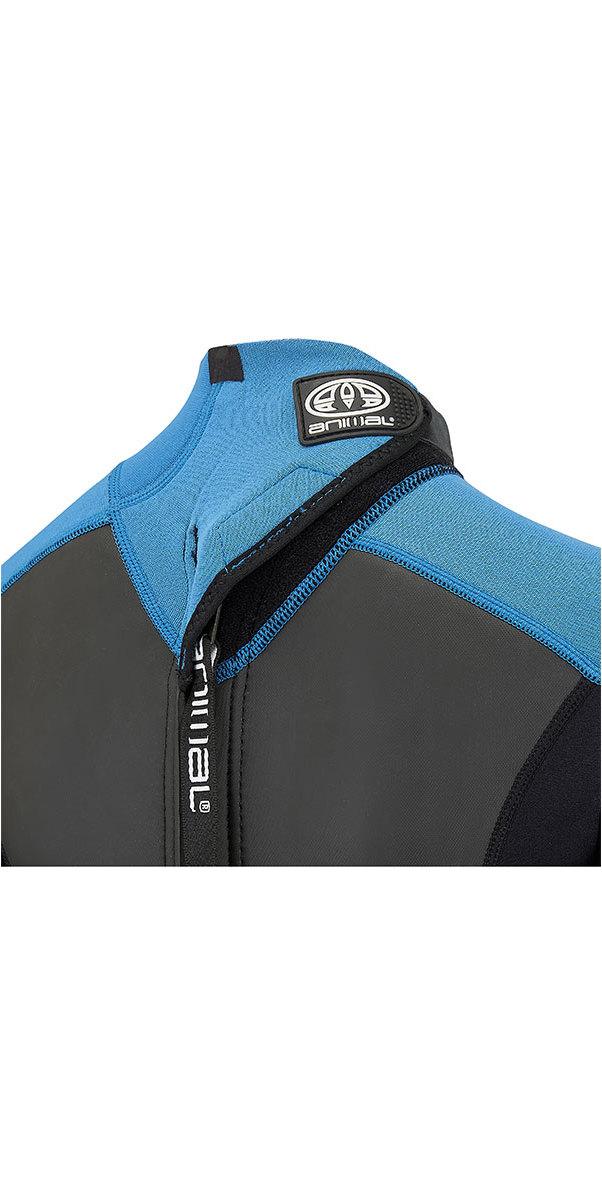 2018 Animal Junior Boys Nova 3/2mm Flatlock Back Zip Wetsuit Marina Blue AW8SN601