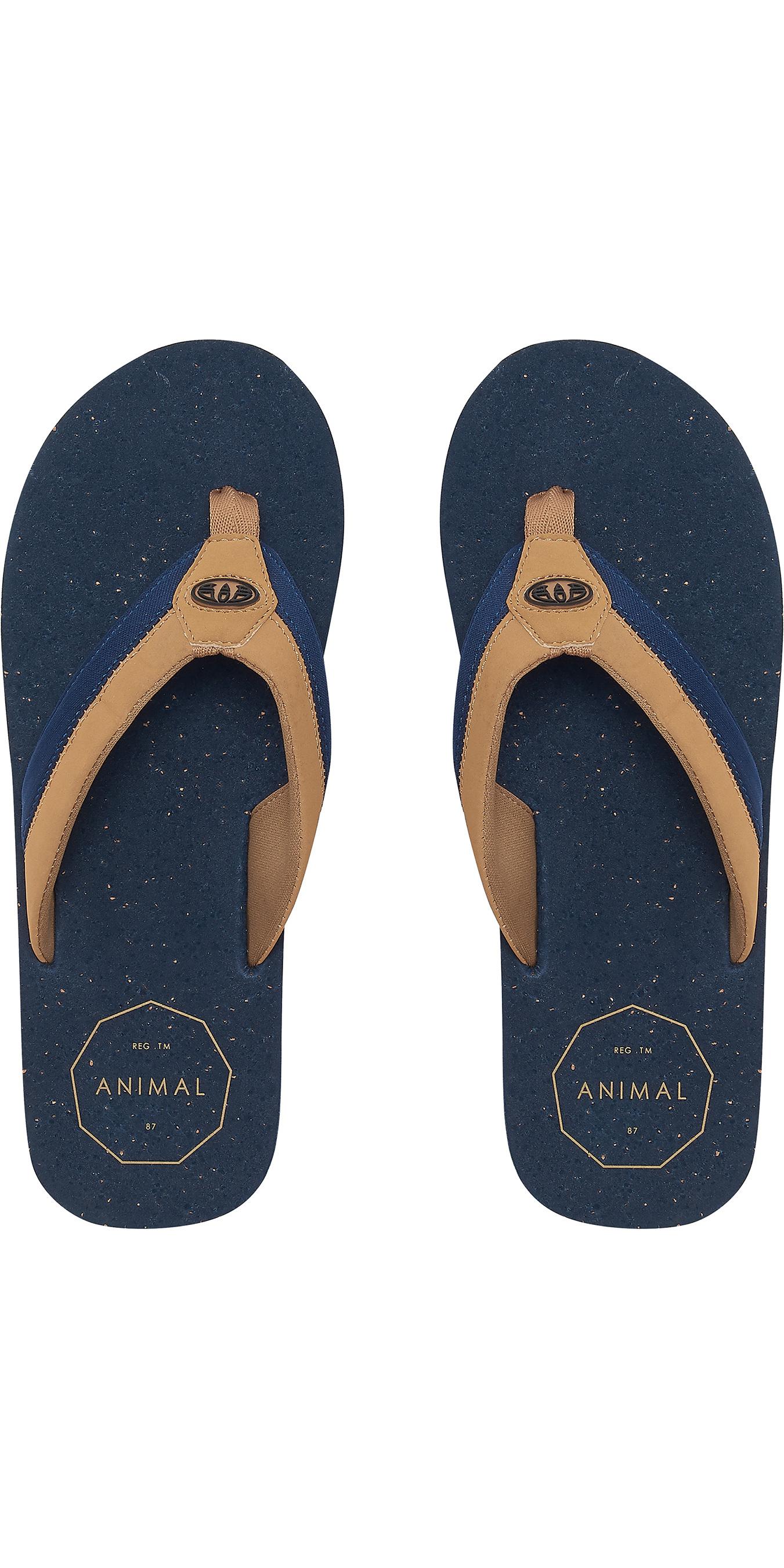 2019 Animal Mens Huxley Flip Flops Dark Navy FM9SQ012