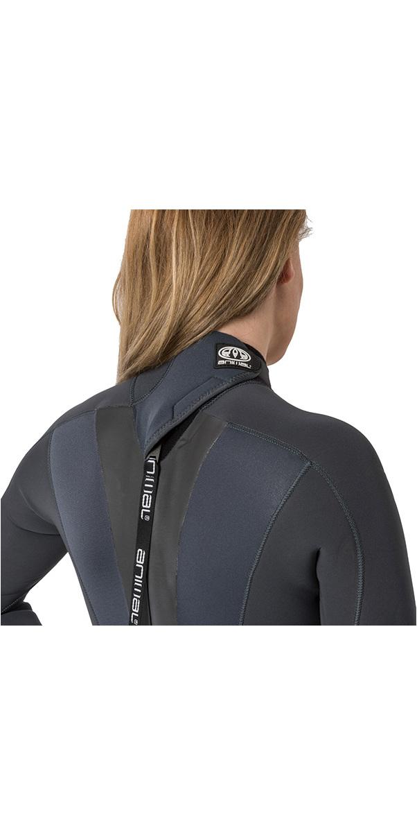 2018 Animal Womens Lava 04/05 / 3 milímetros Voltar Zip GBS Wetsuit Graphite Grey AW8WN301