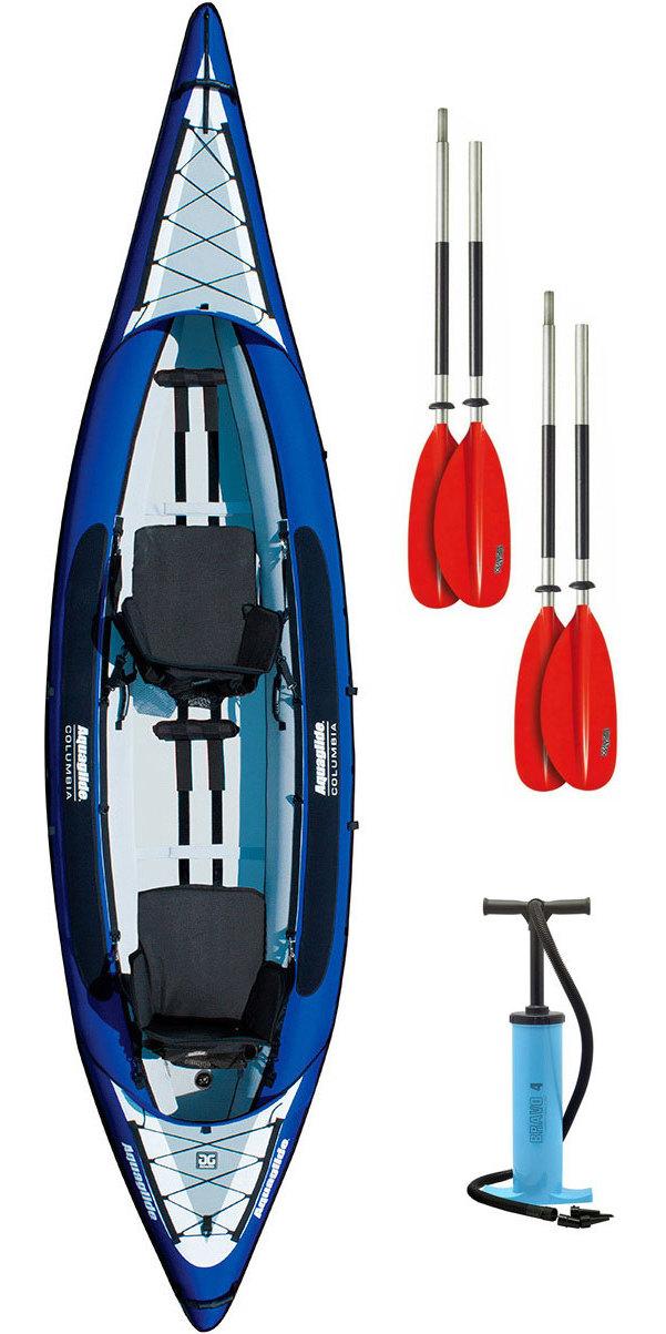 2019 Aquaglide Columbia Xp 2 Man Kayak De Aquaglide + 2 Remos Gratis + Bomba