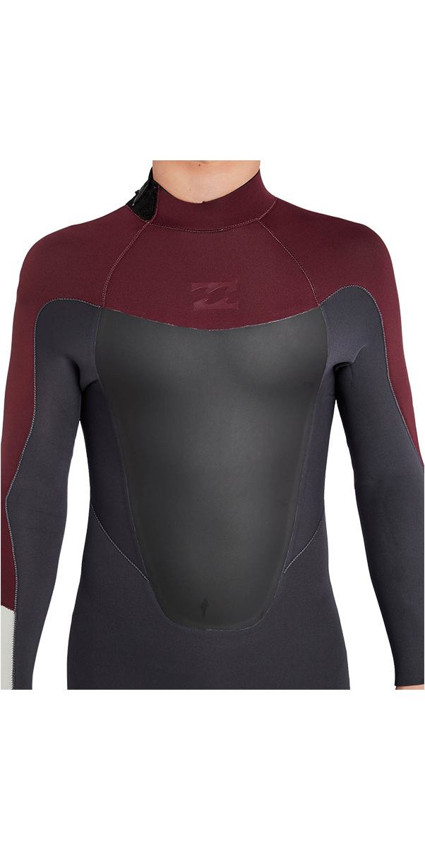 Billabong Absolute 3/2mm Gbs Back Zip Combinaison En Vélo Rouge H43m16