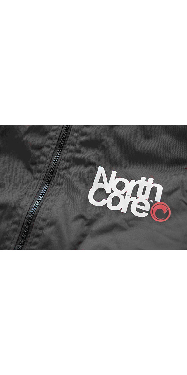 2020 Northcore Beach Basha Pro 4 Seizoen Veranderende Badjas Zwart Noco24j