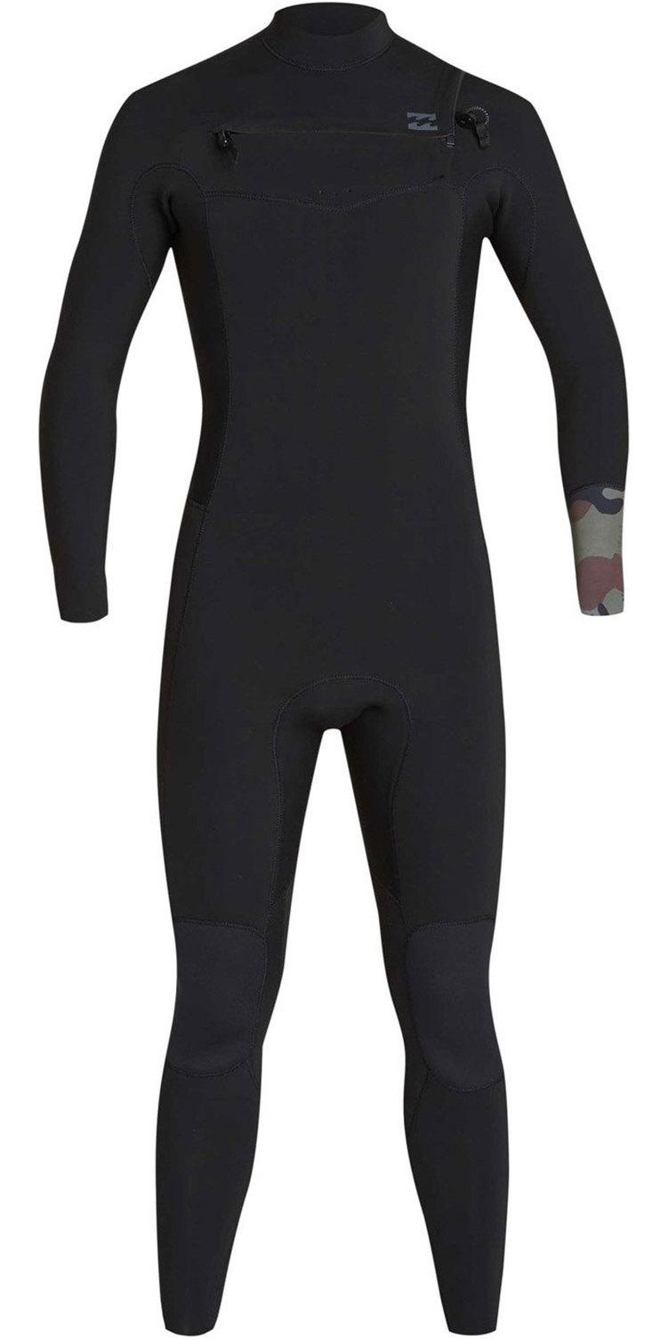 2019 Billabong Men's 4/3mm Furnace Revolução Chest Zip Wetsuit Camo N44m02