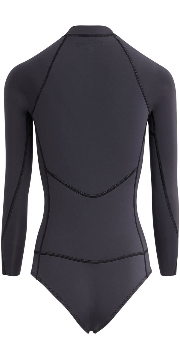 2018 Billabong Womens Salty Daze 2mm Long Sleeve Spring Shorty Wetsuit BLACK SANDS H42G11