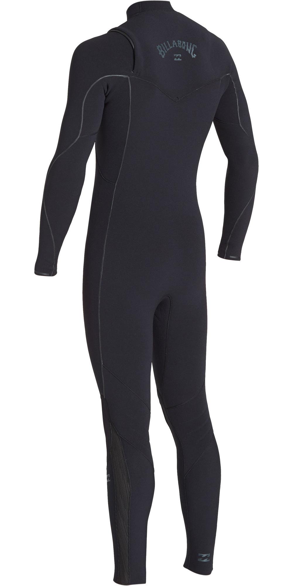 2019 Billabong Mannen Furnace Comping 5/4mm Zip Free Wetsuit Zwart Q45m05