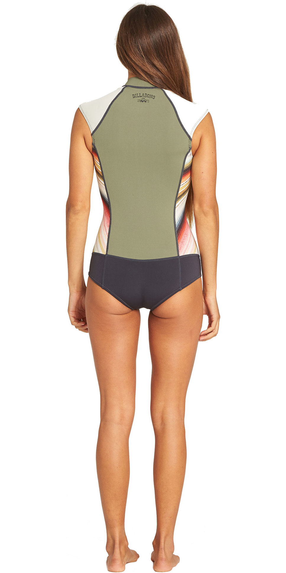 2019 Billabong Femmes 1mm Capitaine Spring Shorty Sans Manches Spring Shorty Wetsuit Combinaison Serape N41g05