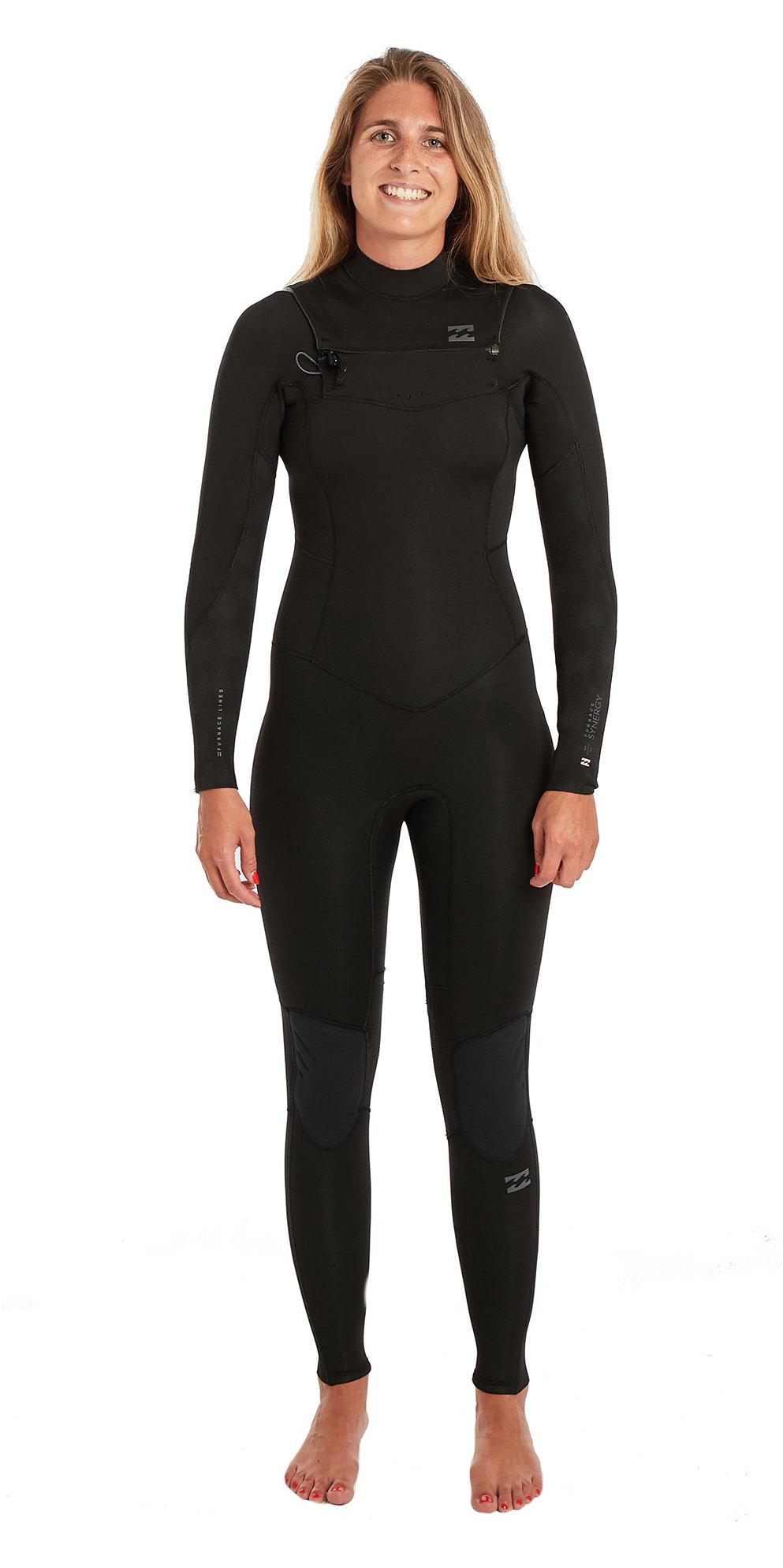 2019 Billabong Womens Furnace Synergy 3 2mm Chest Zip GBS Wetsuit Black  Palms N43G03 ... d9a558f78