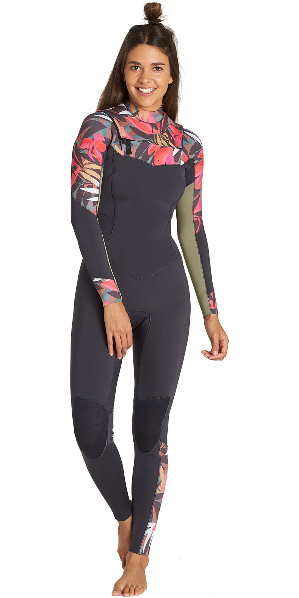 2019 Billabong Vrouwen Salty Dayz 5/4mm Chest Zip Wetsuit Tropische Q45g30