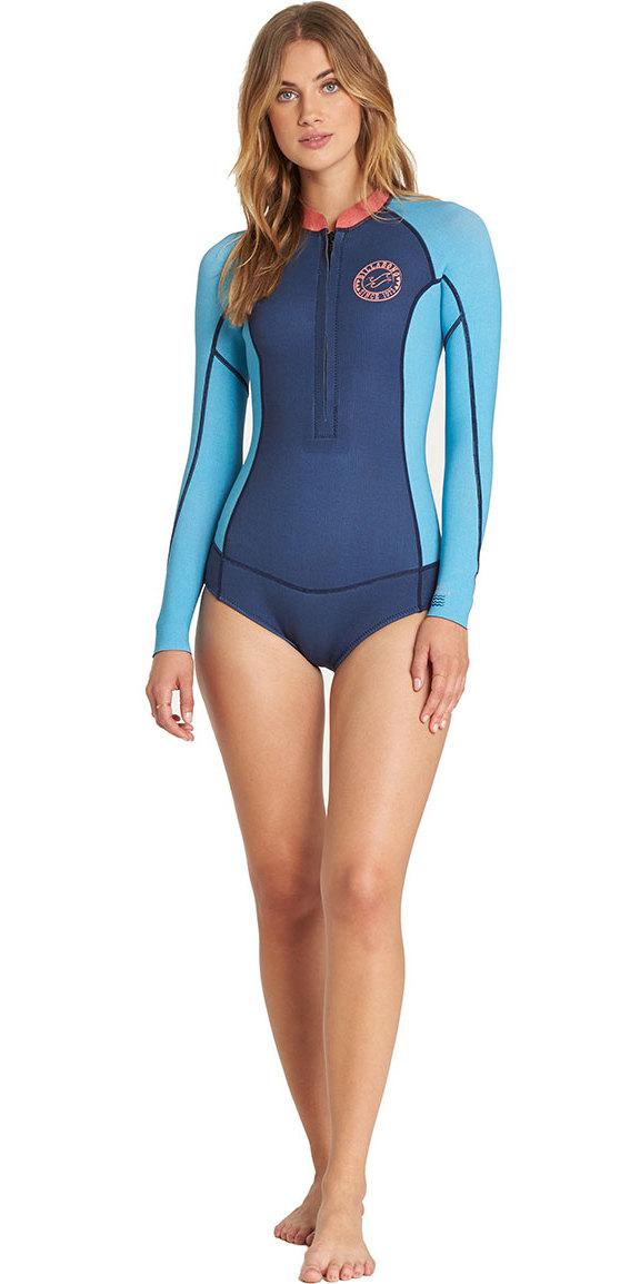 b97e8f781b079 2018 Billabong mujer salada Dayz manga larga 2 mm primavera traje playa  azul L42G02 ...