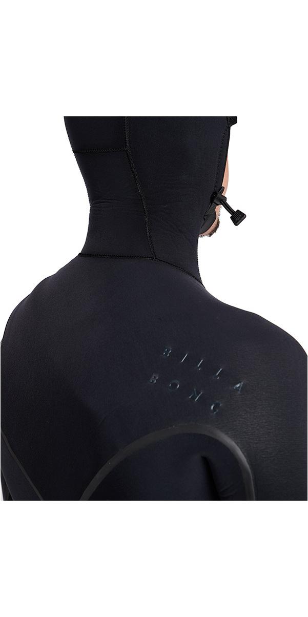 Billabong Furnace Carbon Ultra Hooded 7/6mm Chest Zip Wetsuit Black L47M01