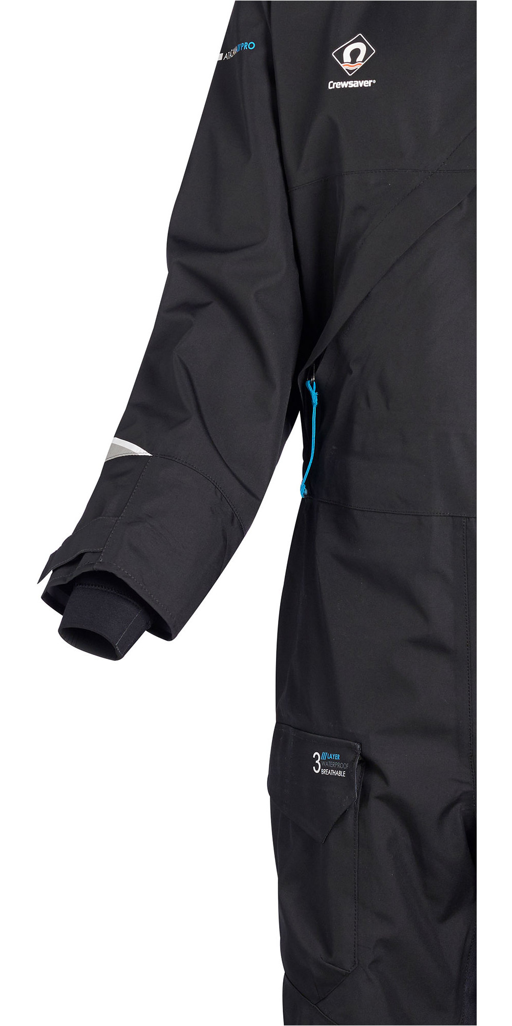 2020 Crewsaver Atacama Pro Drysuit Incluyendo Ropa Interior Negra 6556
