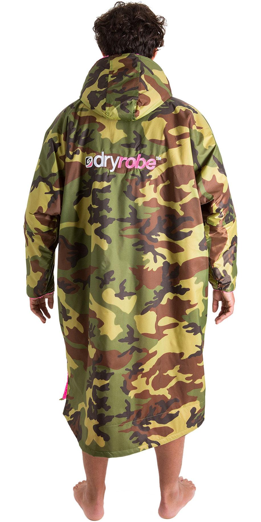 2019 Dryrobe Advance Manches Longues Haut De Gamme, Robe De Chambre D'extérieur Dr104 Camo / Rose