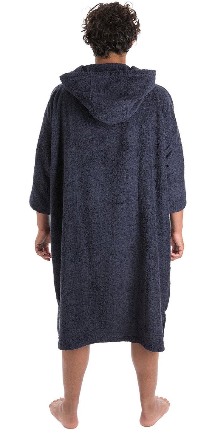 Short Sleeve Hooded Poncho Towel Changing Robe Dryrobe Towelling Robe