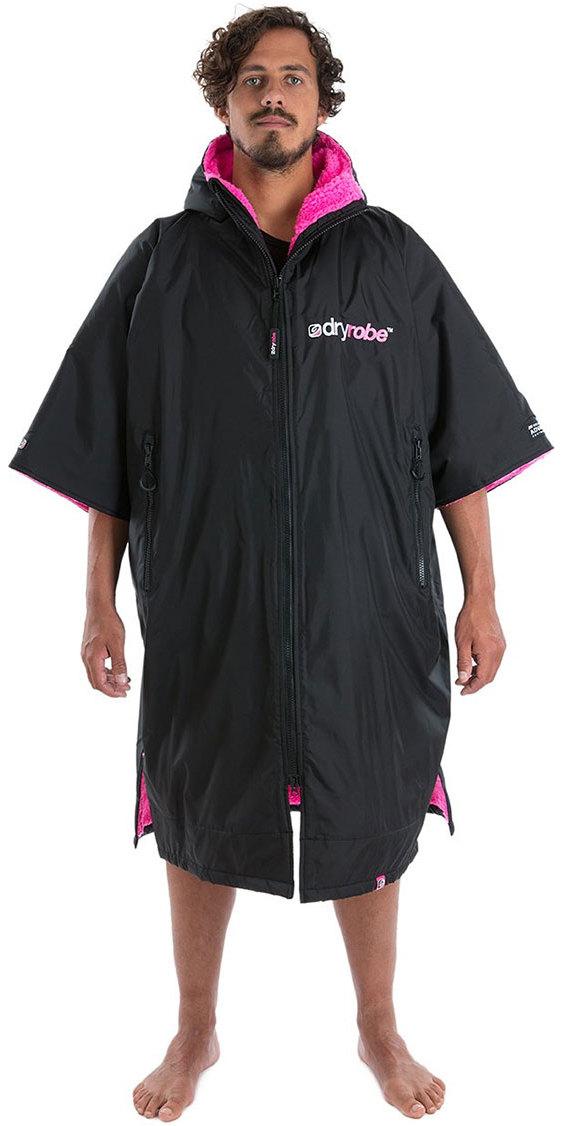 2019 Dryrobe Short Dryrobe Premium Outdoor Robe / Poncho Dr100 Negro / Rosa