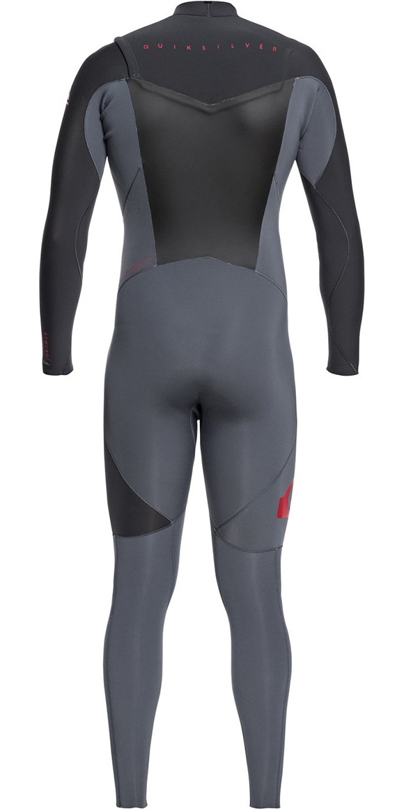 2019 Quiksilver Syncro 3/2mm Chest Zip Wetsuit Cinza / Graphite Eqyw103038