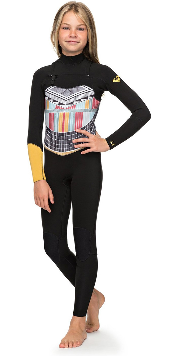 a9dd5e8c228 2018 Roxy Girls Popsurf 3   2mm GBS Chest Zip Wetsuit Negro ERGW103019 ...