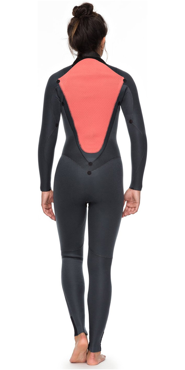 fea178dc39 2018 Roxy Womens Syncro Series 5 4 3mm GBS Back Zip Wetsuit BLACK  ERJW103028 ...