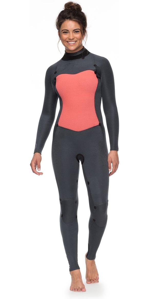 2018 Roxy Womens Syncro Series 5 4 3mm GBS Back Zip Wetsuit BLACK  ERJW103028 ... 8185aa02f4e