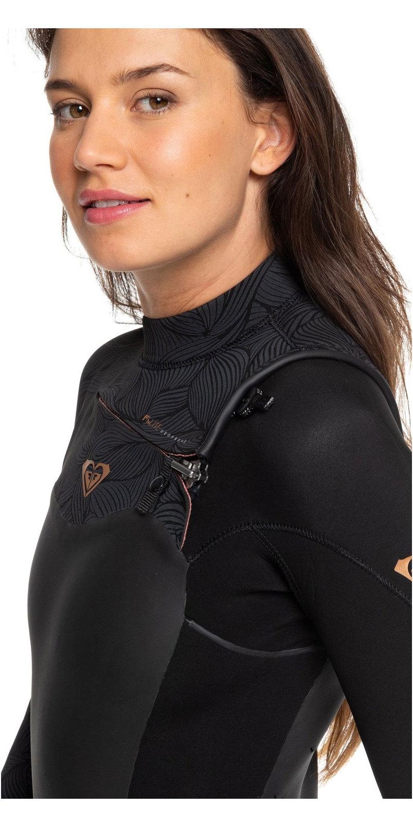 2019 Traje De Neopreno Con Chest Zip Mujer Roxy Performance 4/3mm Negro Erjw103032