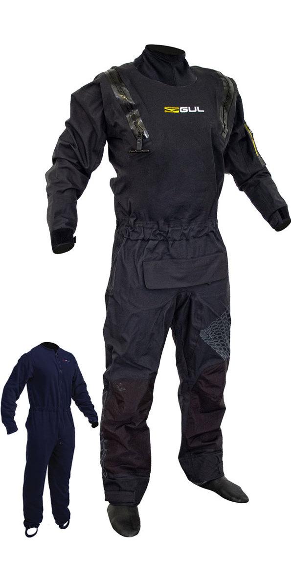 2020 Gul Maschile Code Zero Tratto U-zip Drysuit Con Sottovello Gm0368-B8 Con Zip + - Nero