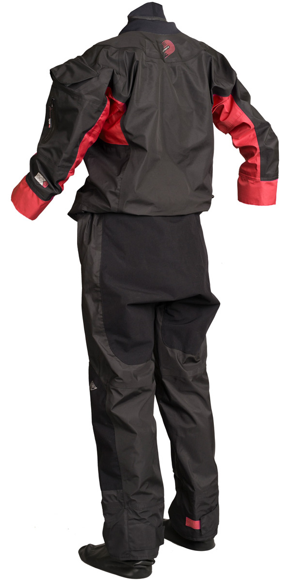2019 Gul Mens Dartmouth Eclip Zip Drysuit + Underfleece GM0378-B5 - Black / Red