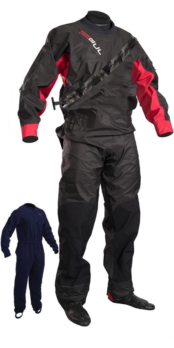 Combinaison Drysuit 2019 GUL Dartmouth Zip Drysuit / Rouge GM0378-B5 avec sous-vêtement gratuit