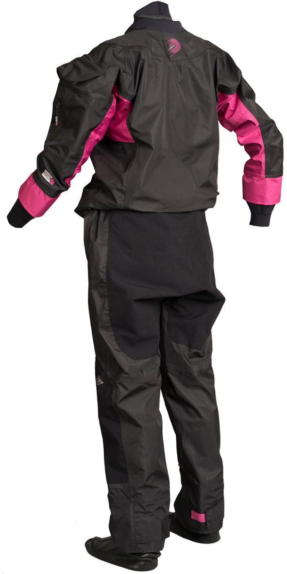2019 GUL Womens Dartmouth Drysuit Preto / Rosa GM0383-B5