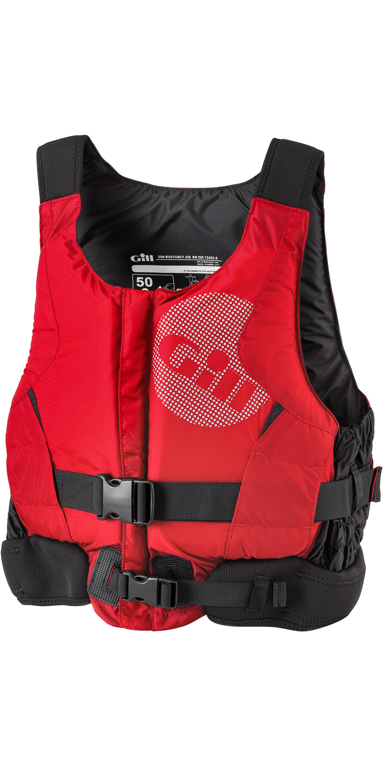 2019 Gill Pro Racer Front Zip Booyancy Aid Rojo - 4917