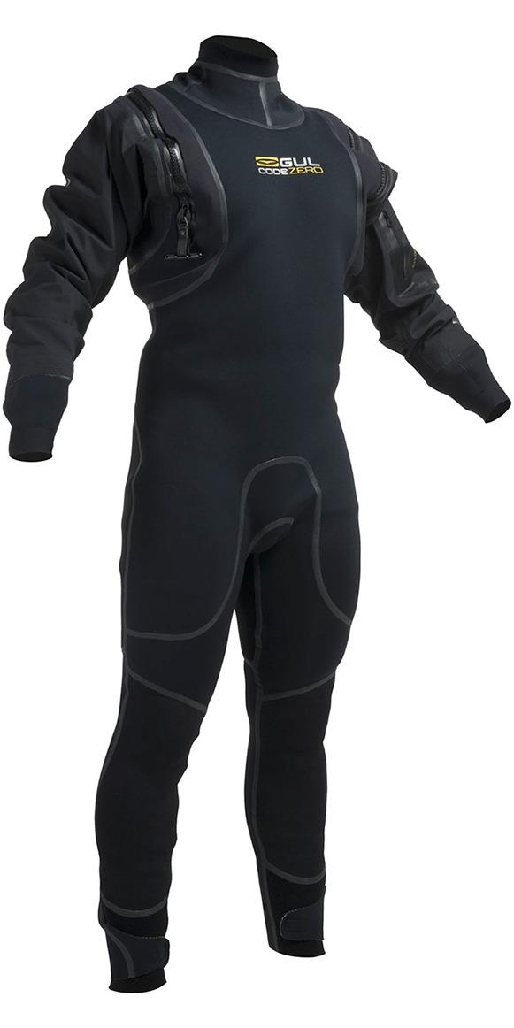 2020 Gul Code Zero 4mm Hybrid Neo Semi Drysuit Negro Gm0377-b1