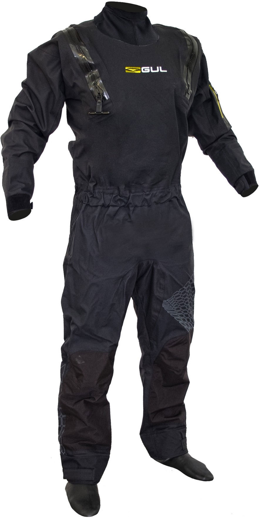 2019 Gul Code Zero Stretch U-Zip Drysuit Black GM0368-B5