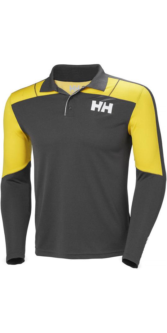 7771b6488de9 2019 Helly Hansen Lifa Active Light Long Sleeve Polo Ebony 48362 ...