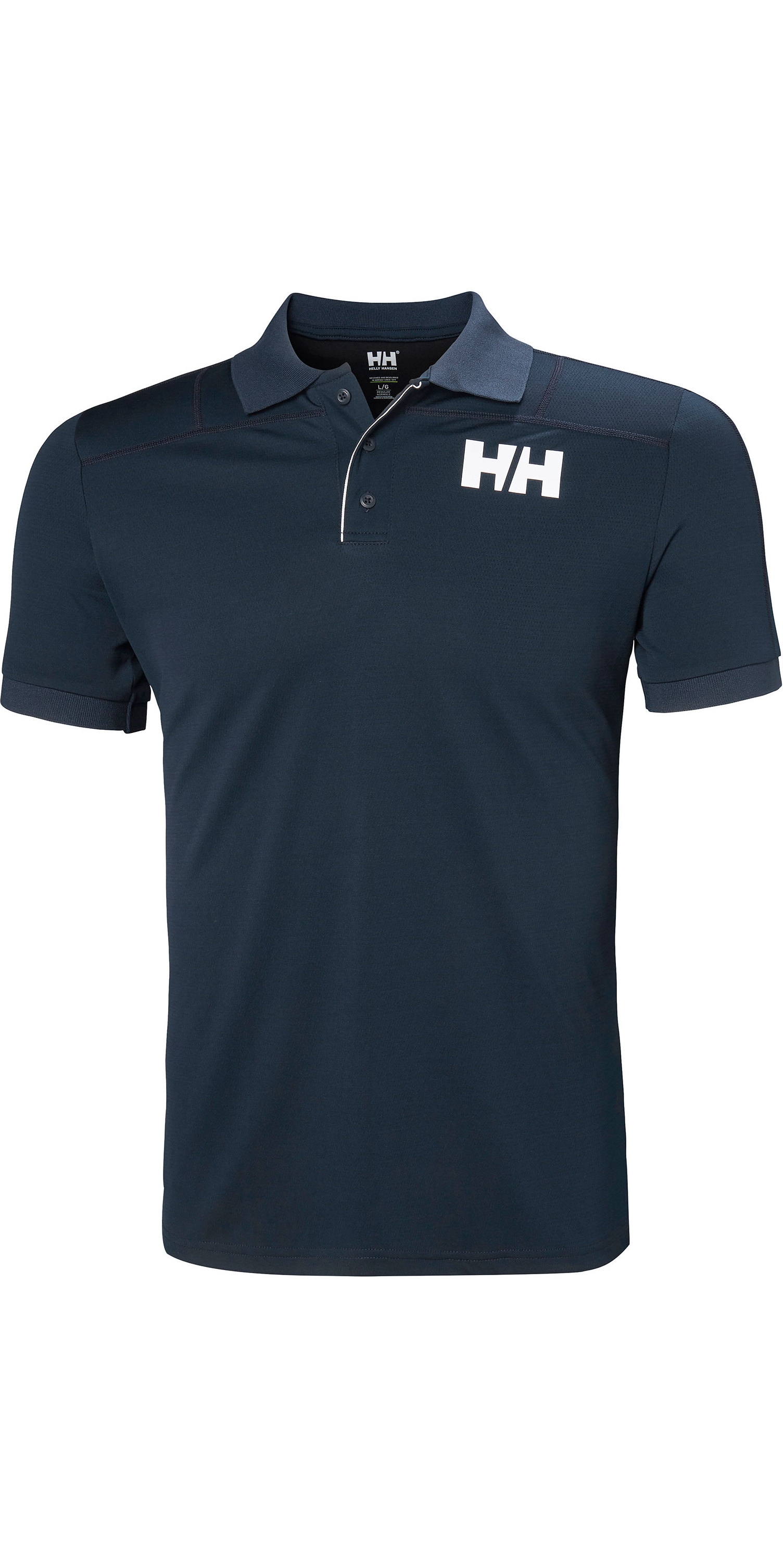2019 Helly Hansen Mænds Lifa Active Polo Navy 49322 Med Kort ærme