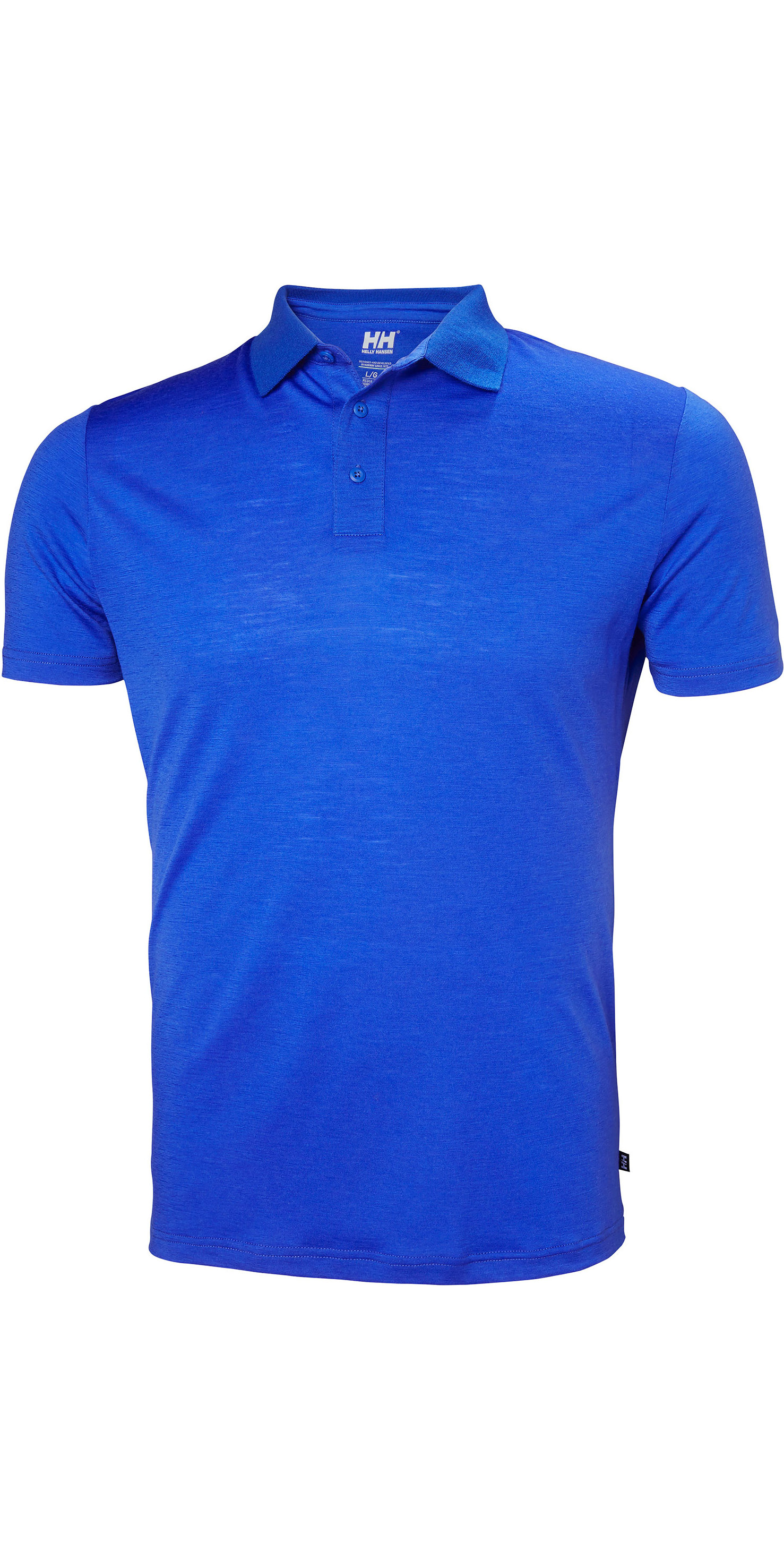 84f0c0c155 2019 Helly Hansen Herren Merino Light Kurzarm Polo Olympian Blue 49320 - Polo  Shirts - Shore | Wetsuit Outlet