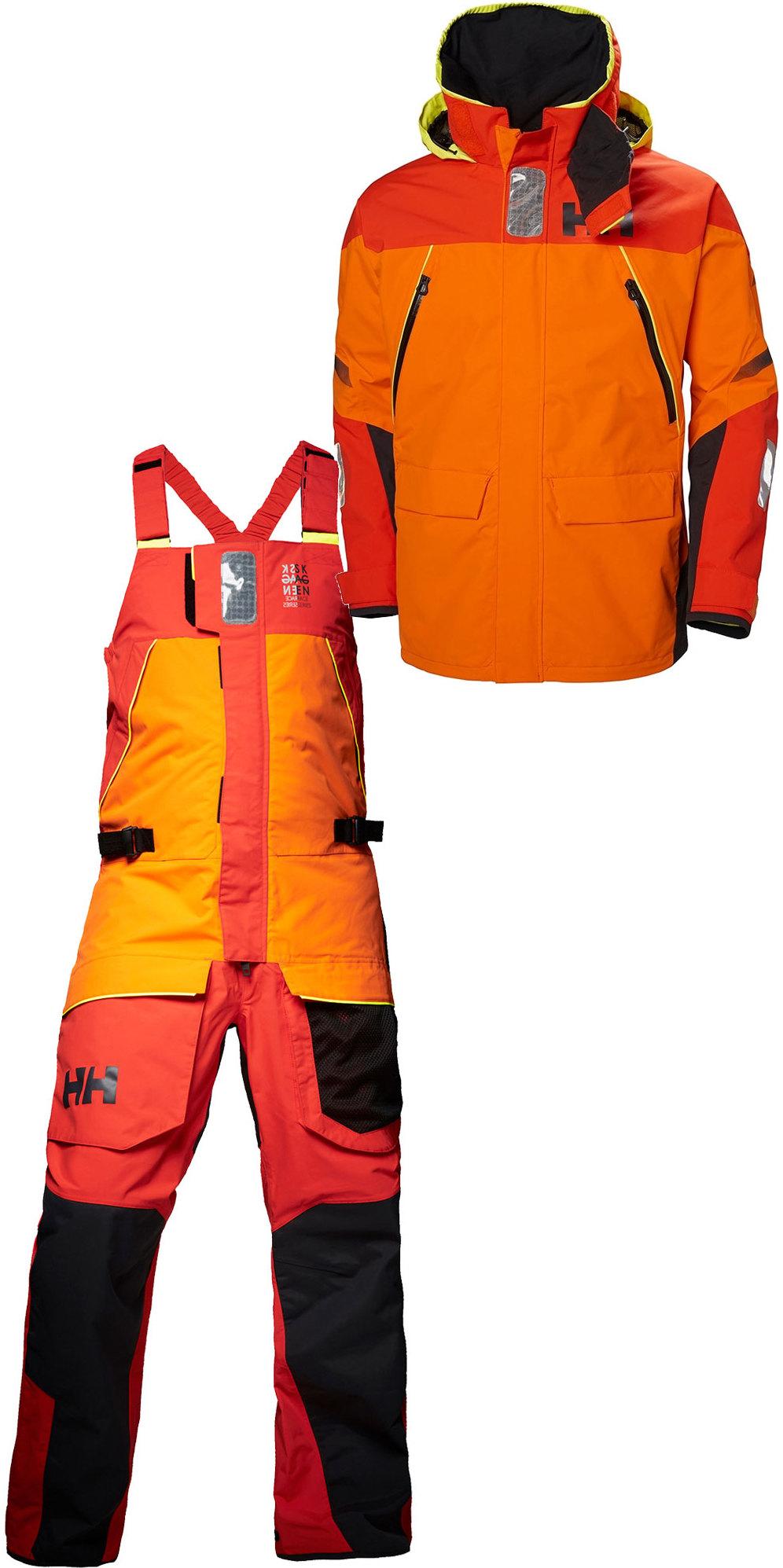 290399b43ed82 Helly Hansen Skagen Offshore Jacket 33907 & Hose 33908 Kombi-Set Blaze  Orange ...