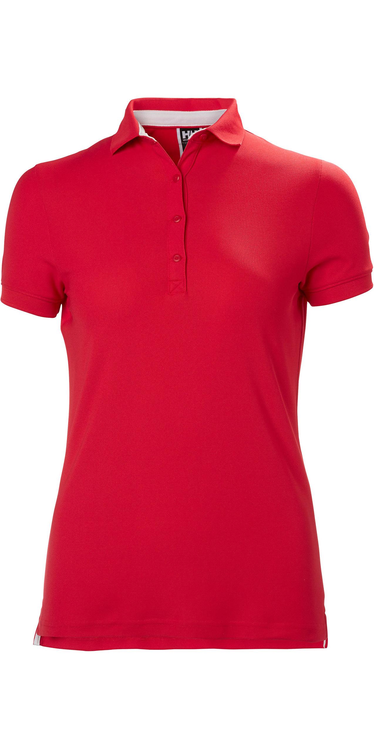 2019 Helly Hansen Crewline Helly Hansen Crewline Polo Shirt Flag Red 53049
