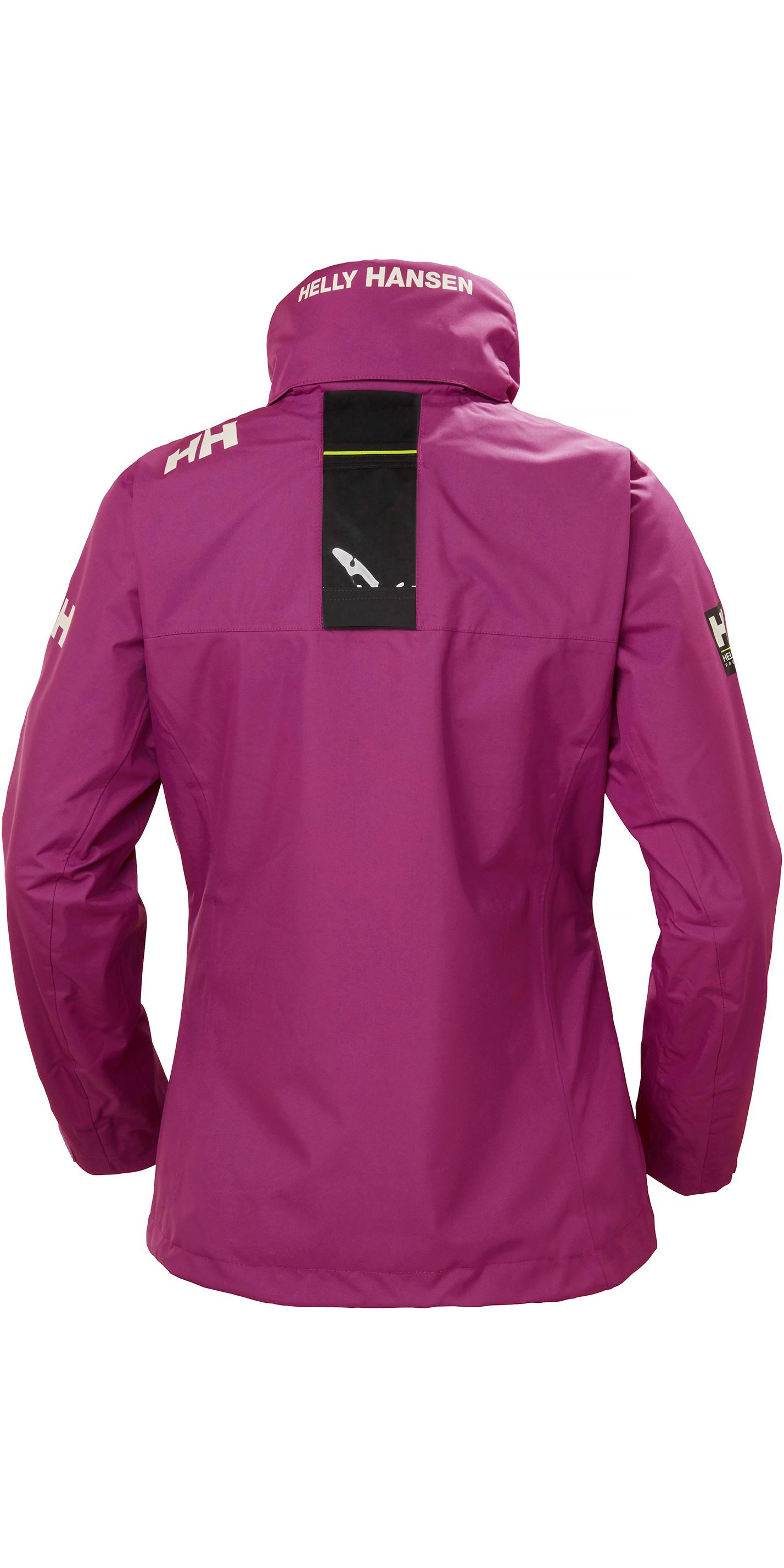 Helly-Hansen Damen Crew Leichte Wasserdicht Winddicht Atmungsaktiv Segel-Regenmantel Jacke mit Verstaubarer Kapuze