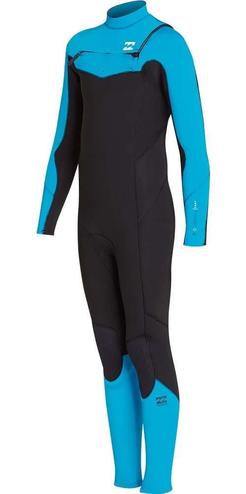 Billabong Junior Furnace Absolute 4 / 3mm Chest Zip Wetsuit Blue Lagoon L44B05
