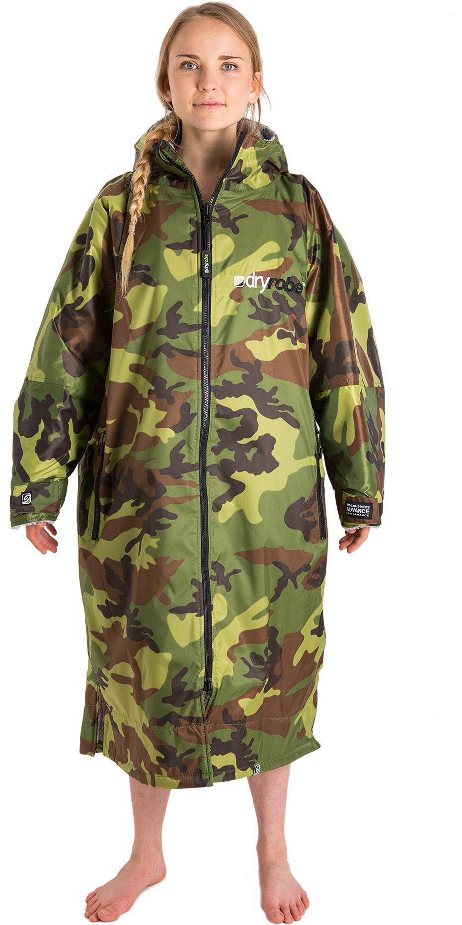 0c9a33cb0c 2018 Dryrobe Advance - Long Sleeve Premium Outdoor Change Robe DR104 - S  Camo   Grey ...