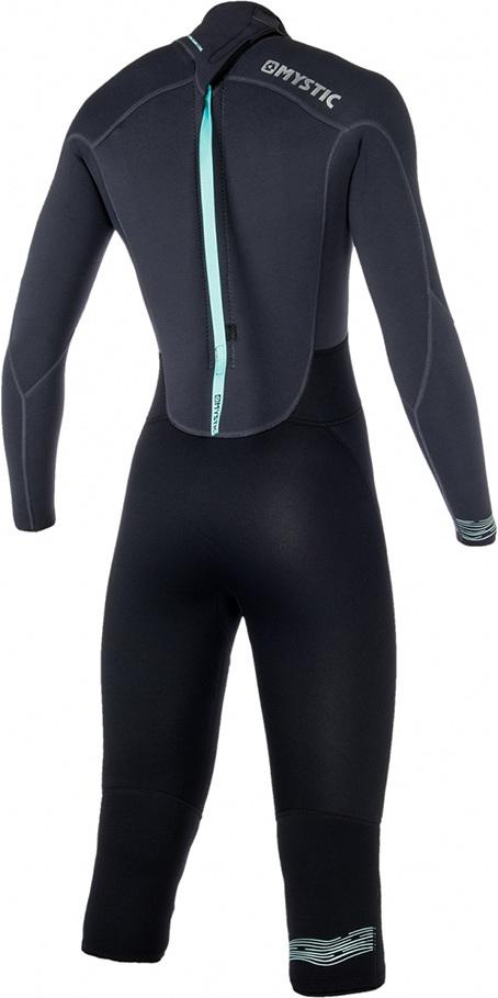 2019 Mystic Womens Brand 3/2mm Back Zip Long Arm Short Leg Wetsuit Black 180068