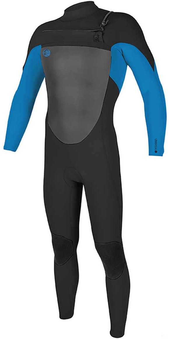 2018 O'Neill O'riginal 4/3mm Chest Zip Wetsuit Black / Ocean 5012