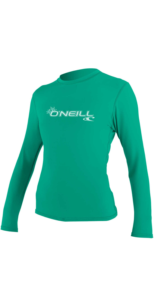 low priced 3dd51 4330f O'Neill Damen Basic Skins Langarm Rash T-Shirt SEAGLASS 4340