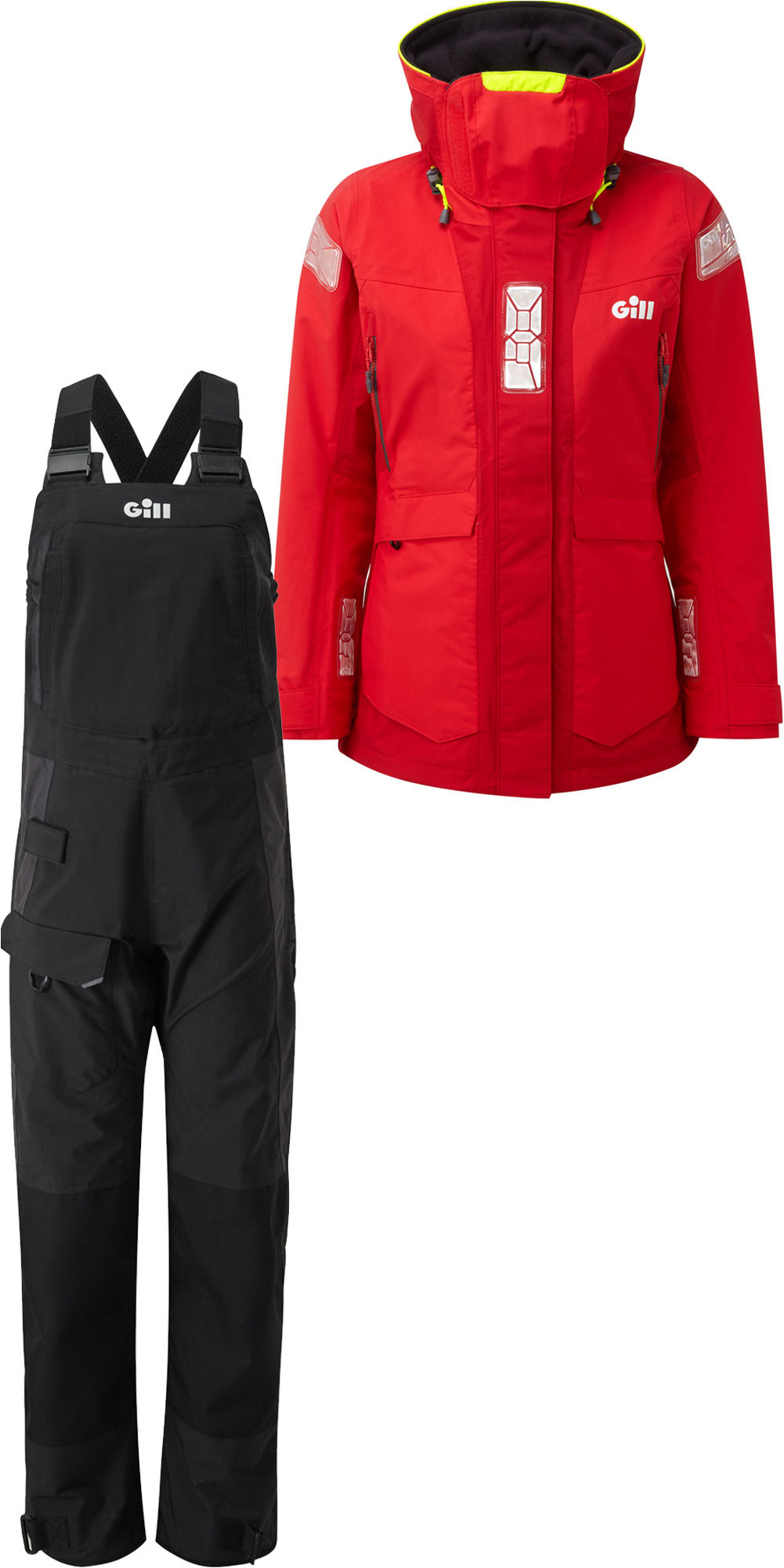df0e74803 2019 Gill OS2 Womens Offshore Jacket OS24JW & Trouser OS24TW Combi Set Red  / Black
