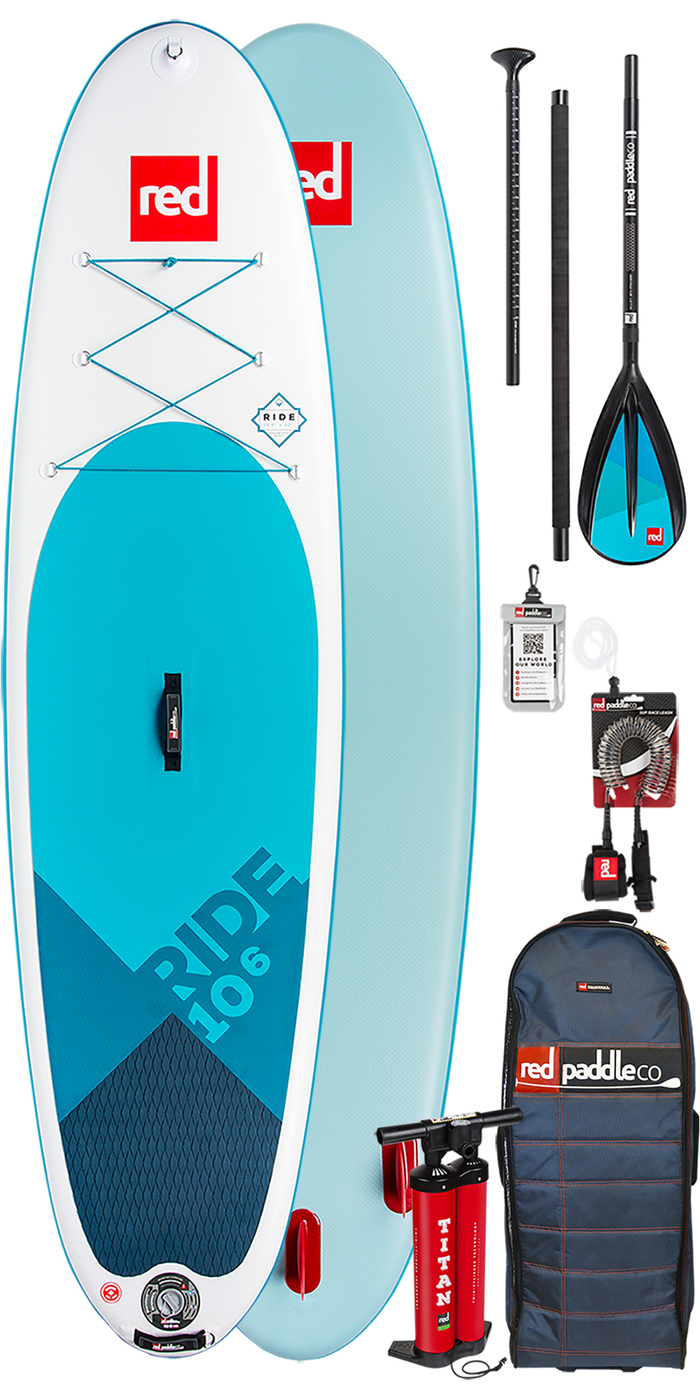 083d9e86f 2019 Red Paddle Co Ride 10'6 Oppblåsbare Stå opp Paddle Board Package