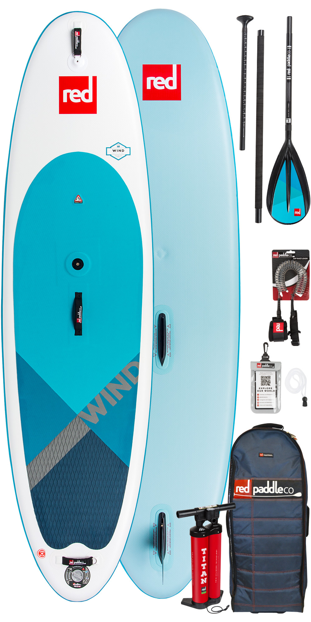 Red Paddle Co WindSUP 10'7 Hinchable Stand Up Paddle Board + Bolsa, bomba, paleta y correa