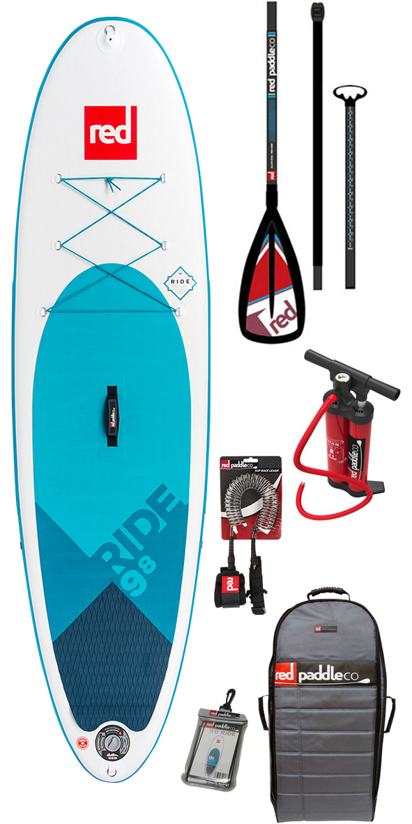 2019 Red Paddle Co Ride 9'8 Inflável Stand Up Paddle Board + Saco, Bomba, Pá & Leash