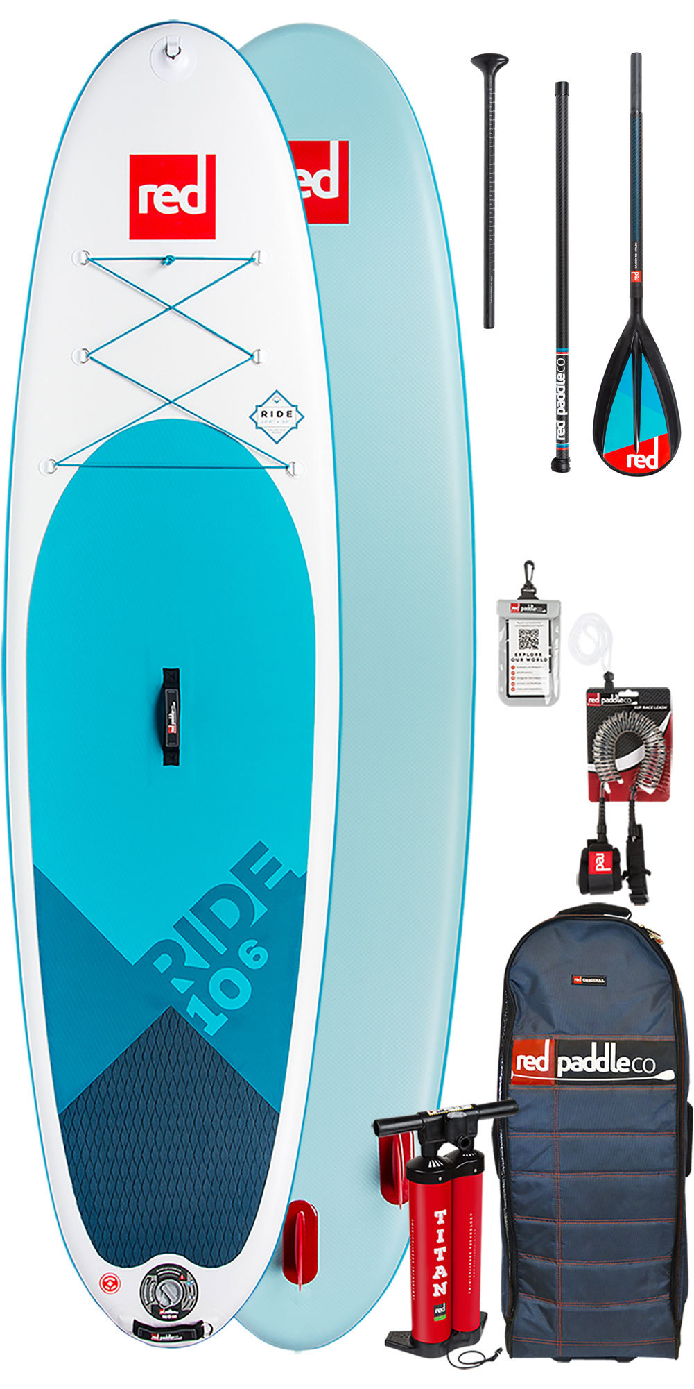 Red Paddle Co SUP Stand Up Paddle Boarding Original Deck Sailing Bag Leash Kit